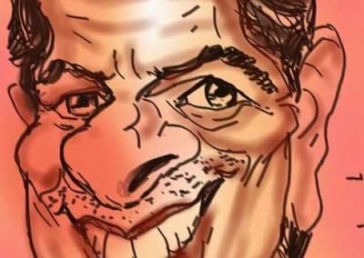 Digitale Karikatur