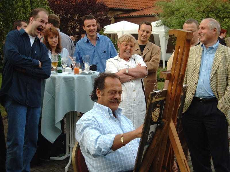Karikaturist Samir Georgy live in Aktion